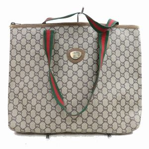 Auth Gucci Gg Plus Tote Bag Browns #851G13